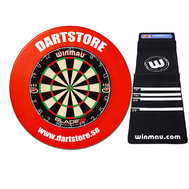 Dartstore Package Winmau 4 with surround, mat and 2 set of darts.