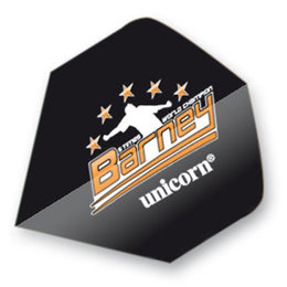 Unicorn Raymond van Barneveld Black with Red Stars
