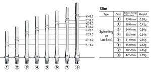 Cosmo Fit Shafts Gear Slim Spinning Svart Size  3 - 24mm