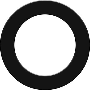Mission Dartboard Surround  Black