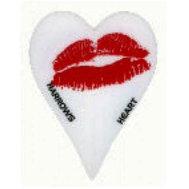 Harrows Heart Valkoinen/Punainen Huulet