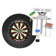 Bulls Surround Dartboard Pro Set Black