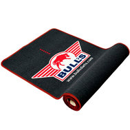 Bulls Dart mat with red border 240x65
