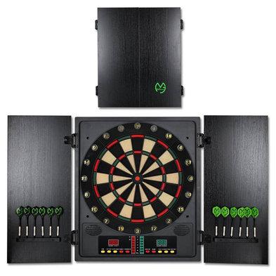 XQMax Michael van Gerwen Electronic Dartboard and Cabinet Set CBX-180 Pro Version Softtip