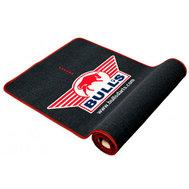 Bulls Dart mat with red border 300x65