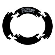 Harrows Jigsaw Surround Black