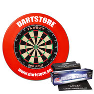 Dartstore Package Target 2 with surround, mat and 2 set of darts