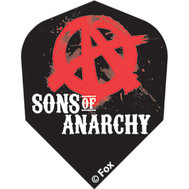 Sons of Anarchy Black with red A inside O