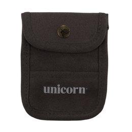 Unicorn Accessory Pouch Black Leather