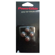 STICK ON BROWN TIPS 13MM 4PC