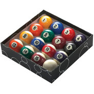 "1""7/8' (48MM) POOL BALLS (STRIPES) CLAM"
