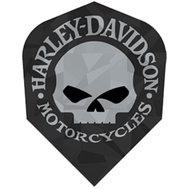 Harley Davidson Black with silver skull